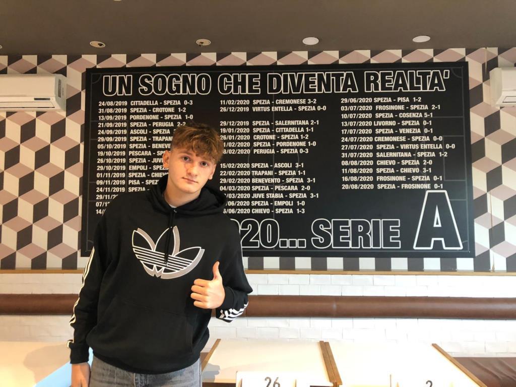 Il giovane Francesco Paolo Barbara allo Spezia