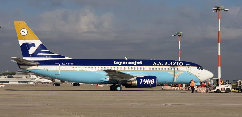 Il nuovo aereo della Lazio è a Trapani-Birgi