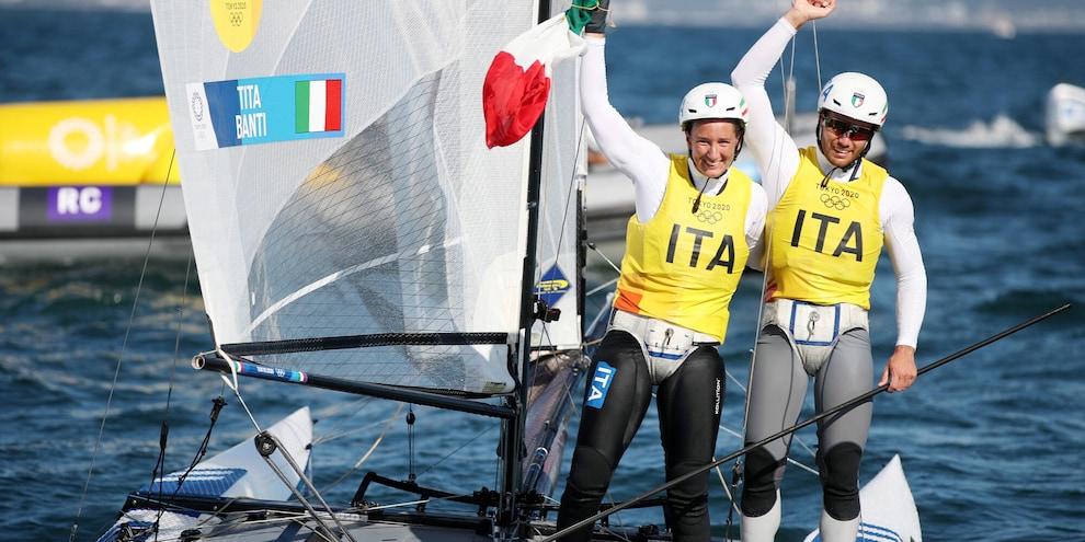 Vela, Caterina Banti e Ruggero Tita vincono l'oro alle Olimpiadi