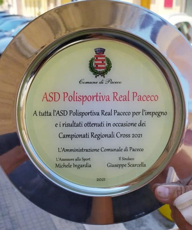 Il sindaco di Paceco premia l'Associazione Real Paceco per meriti sportivi