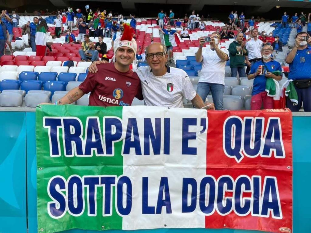 Trapani presente con i colori granata alla gara Italia-Belgio