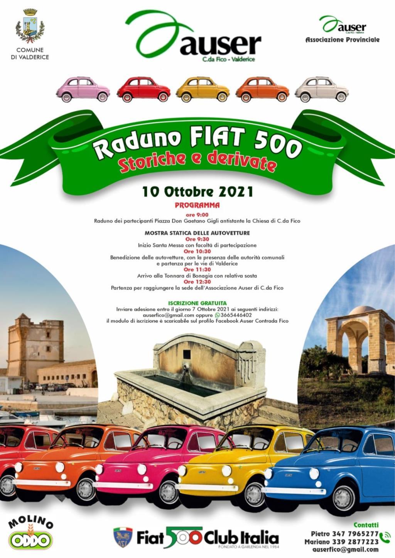 Domenica raduno di Fiat 500 storiche in contrada Fico