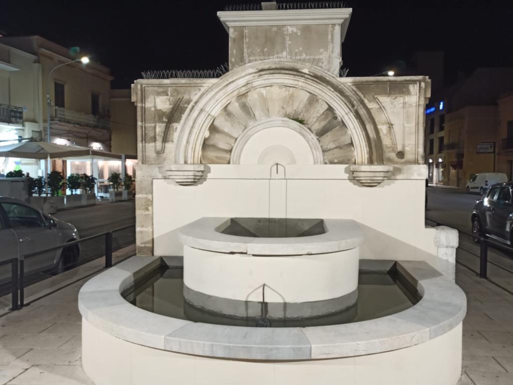 Trapani: inaugurato ieri sera l'abbeveratoio di via Pepoli