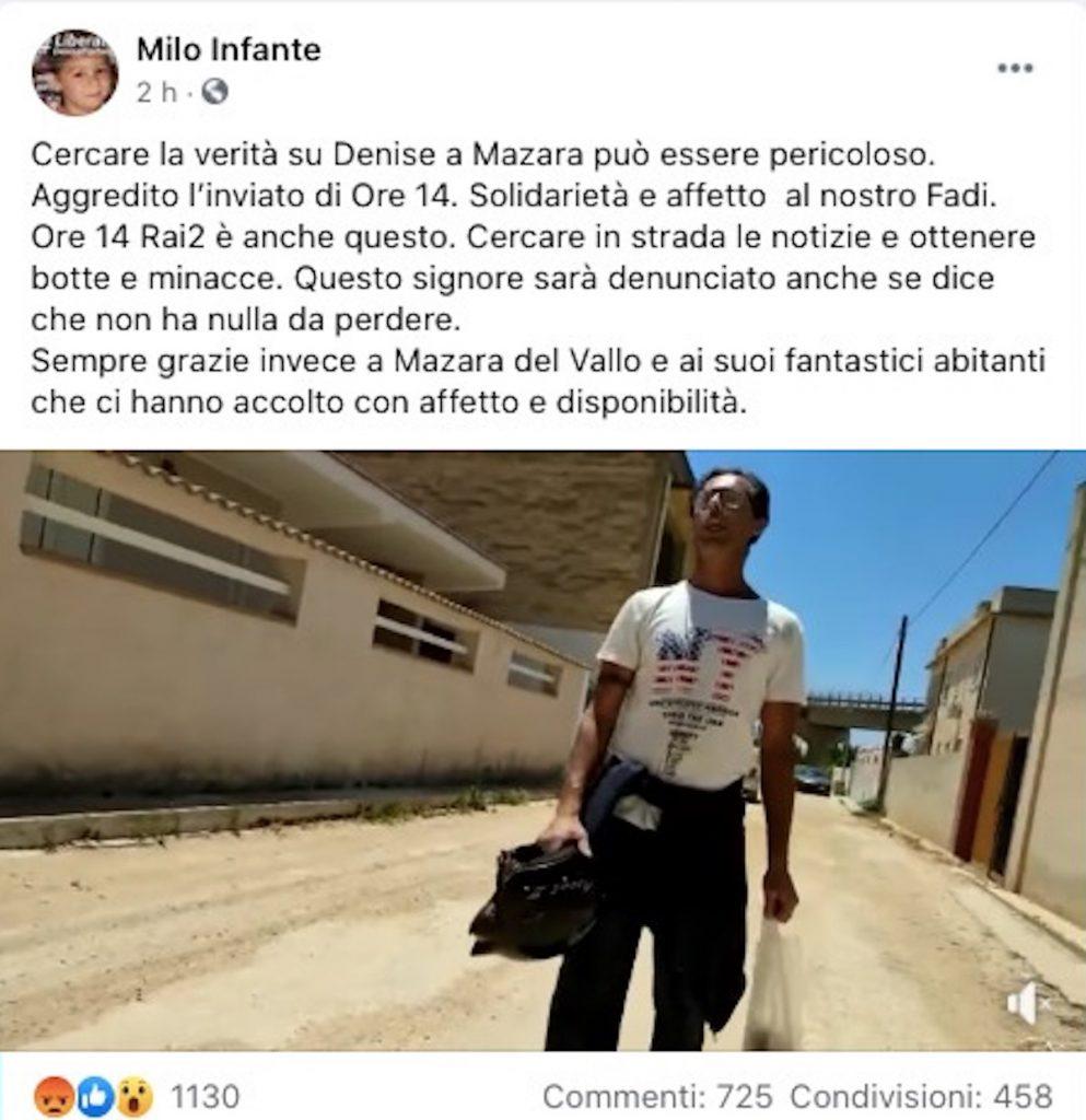 Mazara del Vallo: aggredito l'inviato della trasmissione Ore14 (VIDEO)