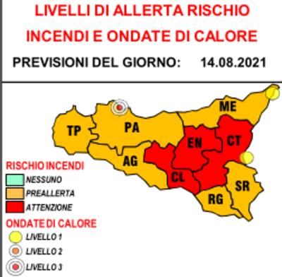 Allerta rossa oggi e domani, rischio incendi in tre province