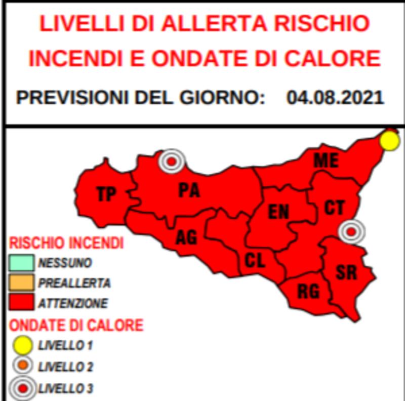 Nuova ondata di calore in Sicilia: ancora allerta rossa per il rischio incendi