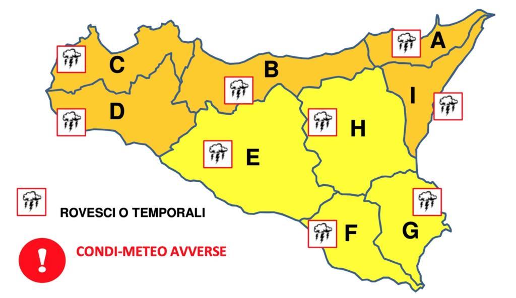 Allerta meteo arancione: rischio dissesto idrogeologico