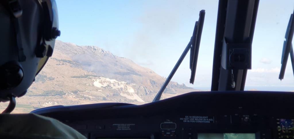 Ancora incendi in provincia di Trapani, ennesimo intervento dell'82° centro C.S.A.R.