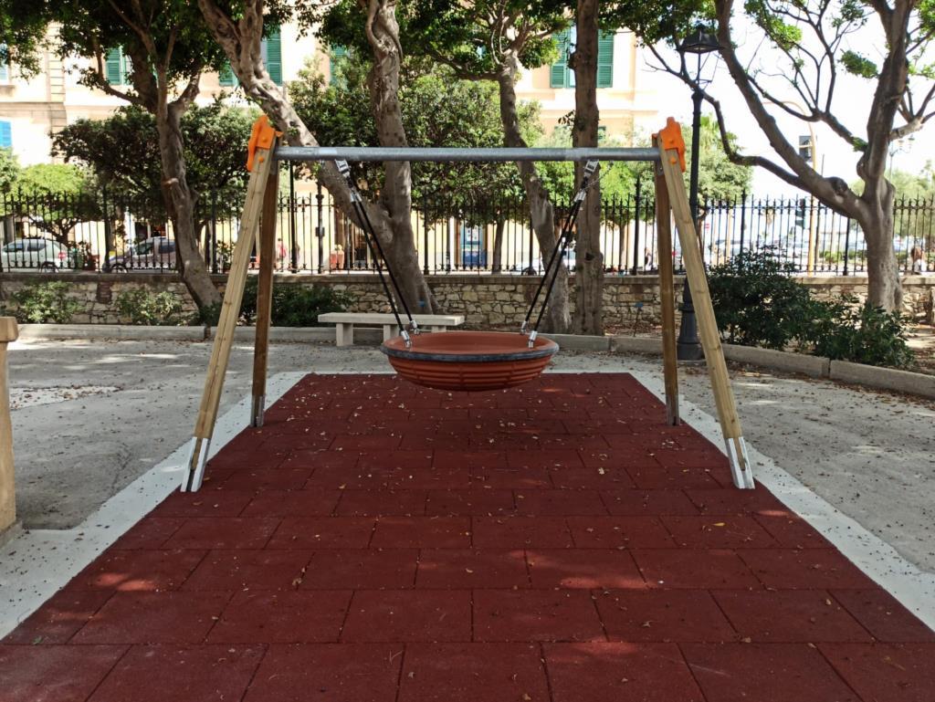 Trapani, taglio del nastro per il parco giochi inclusivo a villa Margherita
