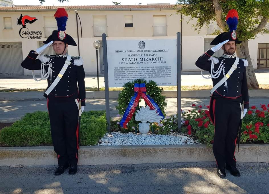 Cerimonia in memoria del maresciallo Silvio Mirarchi