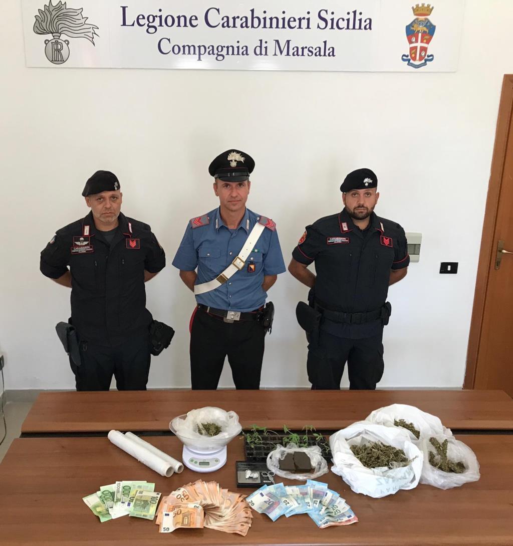 Marsala: controlli dei carabinieri, un arresto ed una denuncia
