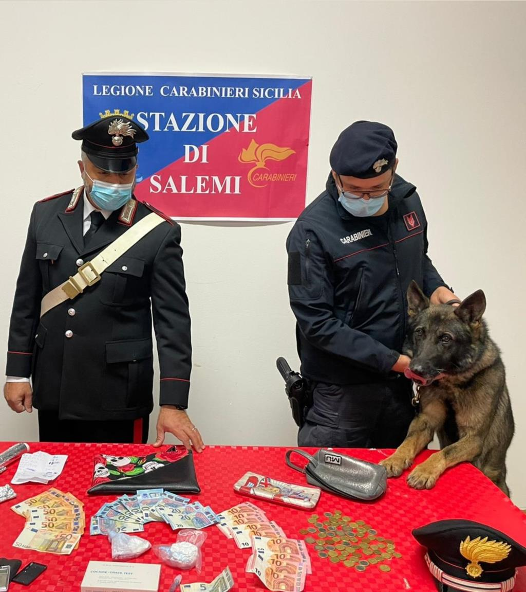 Salemi, arrestato presunto pusher con 70 grammi di cocaina