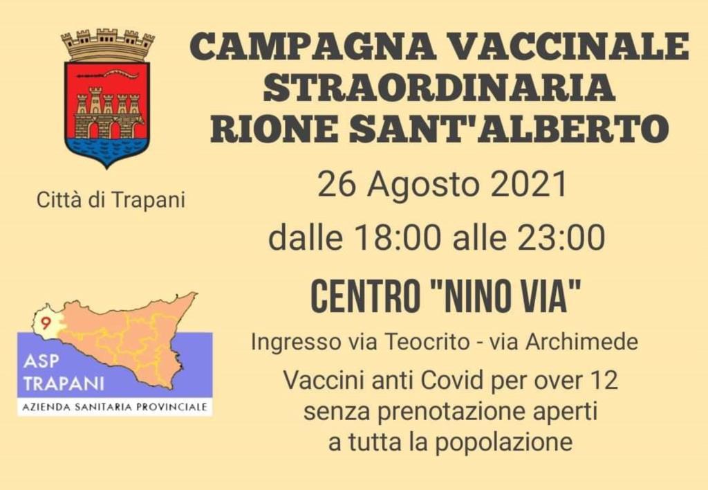 Trapani, oggi dalle 18 alle 23 vaccini anti Covid aperti a tutti al Centro