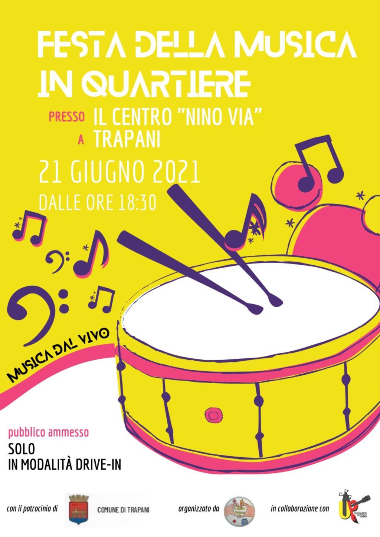 Trapani - Oggi la prima festa in musica al centro Nino Via