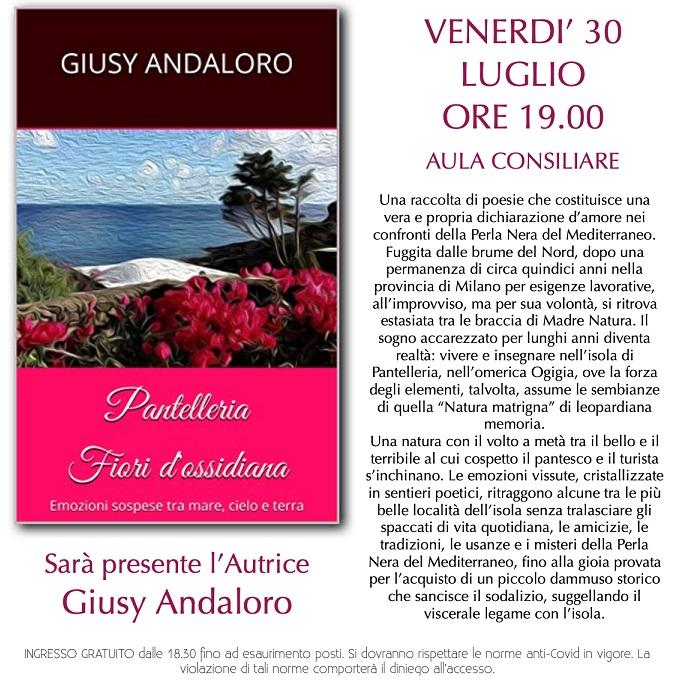 Giusy Andaloro presenta due libri dedicati a Pantelleria