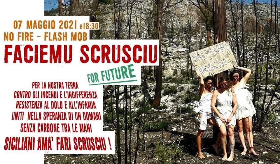 Flash Mob a San Vito Lo Capo contro gli incendi boschivi