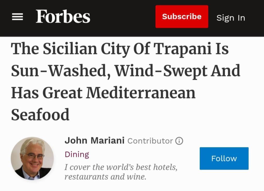 Trapani protagonista sulla prestigiosa rivista Forbes