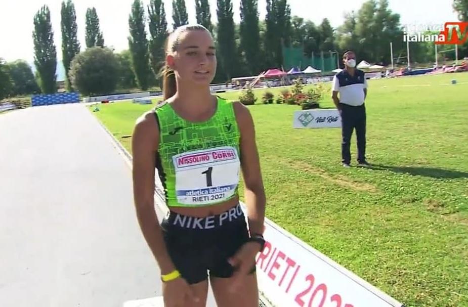 Paceco, Gilda Arceri primeggia nel campionato nazionale FIdal categoria Allievi (Il VIDEO della gara)