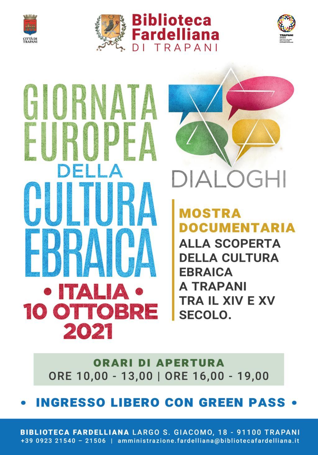 Trapani, la Fardelliana aderisce alla XXII Giornata Europea della Cultura Ebraica