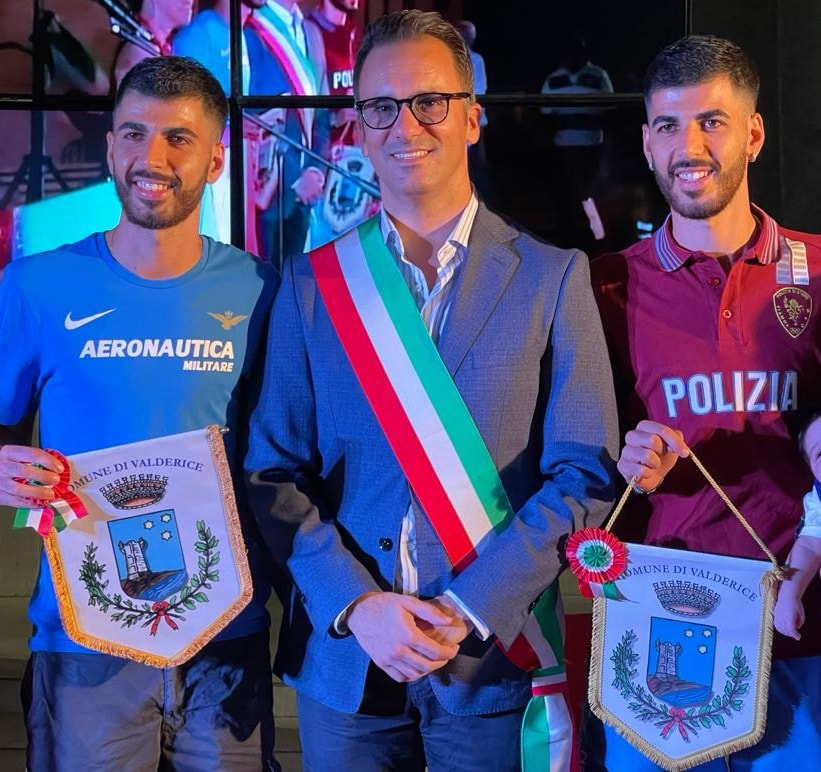 Ieri sera Valderice ha reso omaggio ai fratelli Ala e Ussem Zoghlami reduci dalle Olimpiadi
