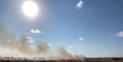 Incendio alla riserva orientata delle saline di Trapani e Paceco