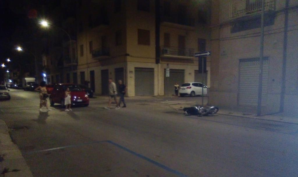 Trapani, minore ferito in un incidente stradale