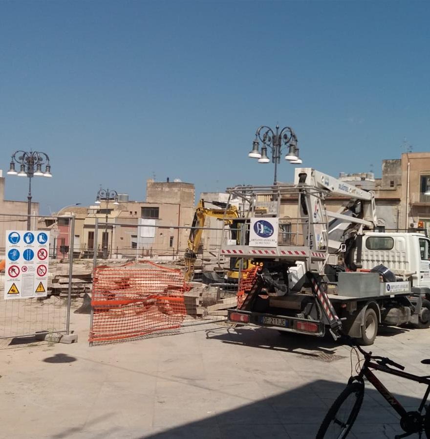 Paceco, lavori in piazza e illuminazione a Led in altre cinque strade