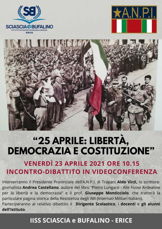 Erice, all'Istituto Bufalino si commemora la giornata della Liberazione