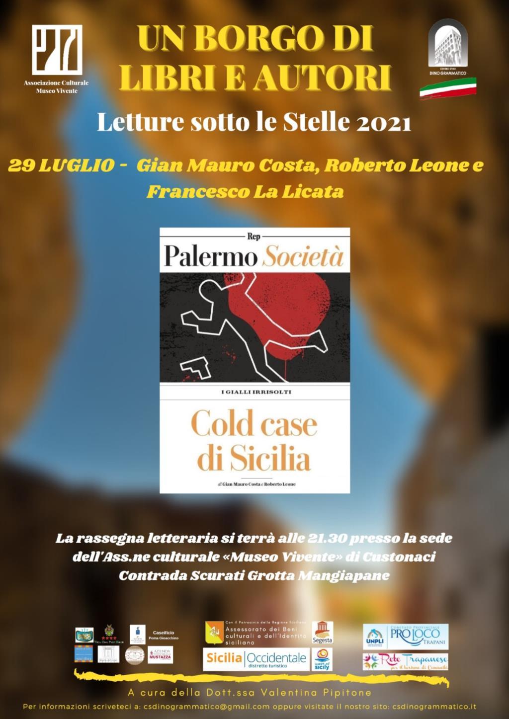 Un Borgo di Libri ed Autori, a Custonaci arrivano i «cold case» di Sicilia