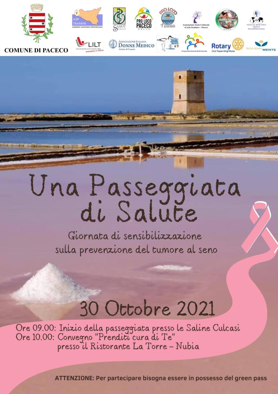 Paceco, iniziative per la campagna 'Nastro rosa'