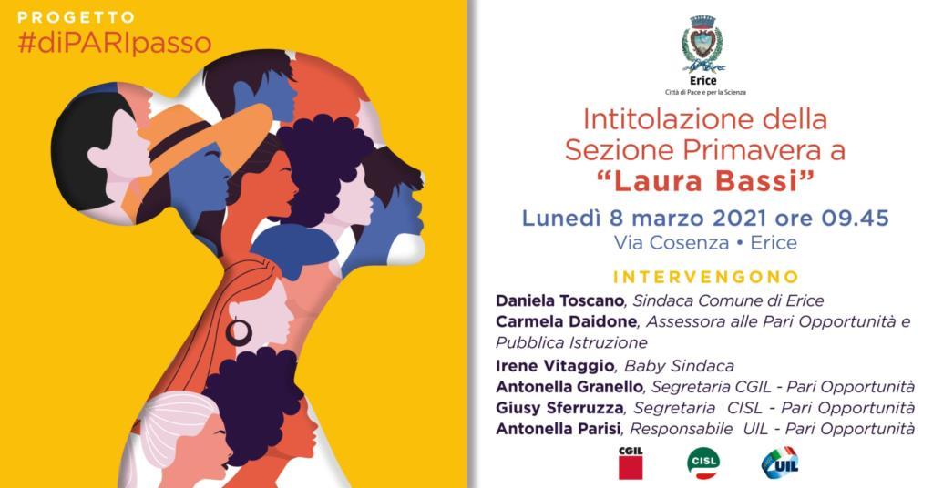 Erice, sarà intitolato a Laura Bassi l'asilo comunale di via Cosenza