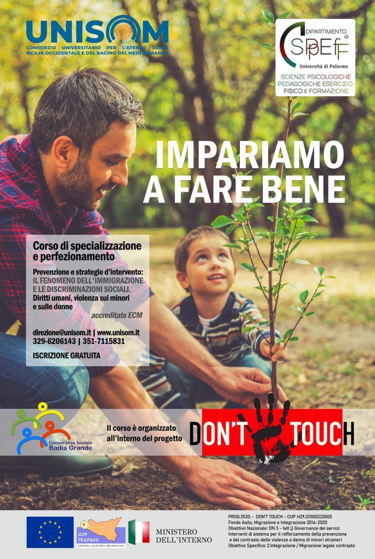 'Don't Touch', aperte le iscrizioni al corso di formazione