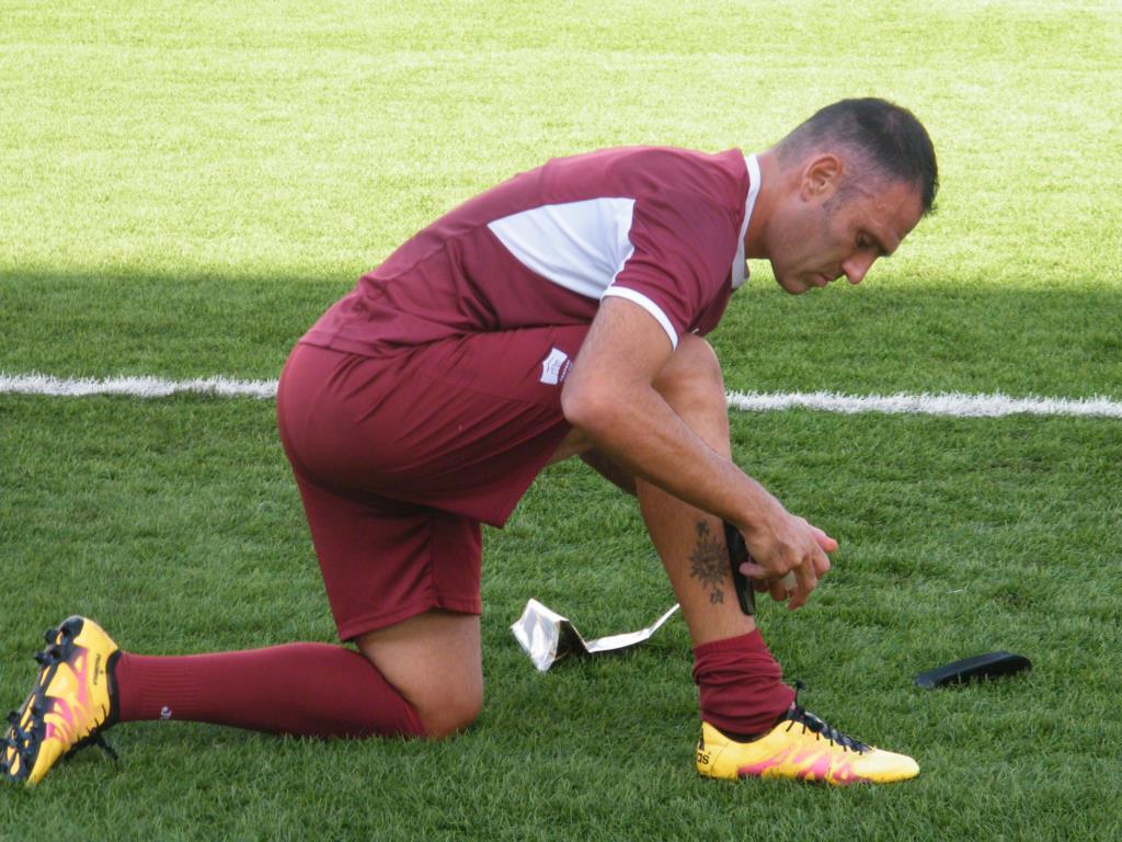 La protesta dei calciatori del Trapani