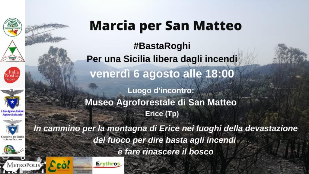 In marcia da San Matteo per una Sicilia libera dagli incendi