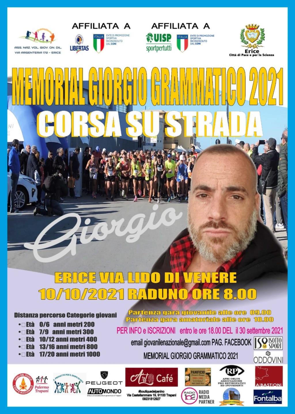 """Domenica la gara podistica regionale """"Memorial Giorgio Grammatico"""""""