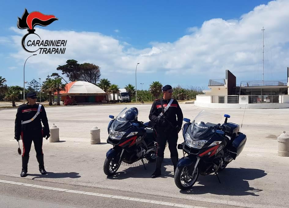 Controlli anticovid dei Carabinieri a Marsala, elevate 14 sanzioni