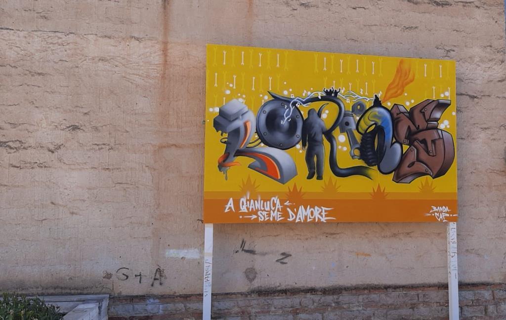 Erice, targa e murales in memoria di  Gianluca Loria