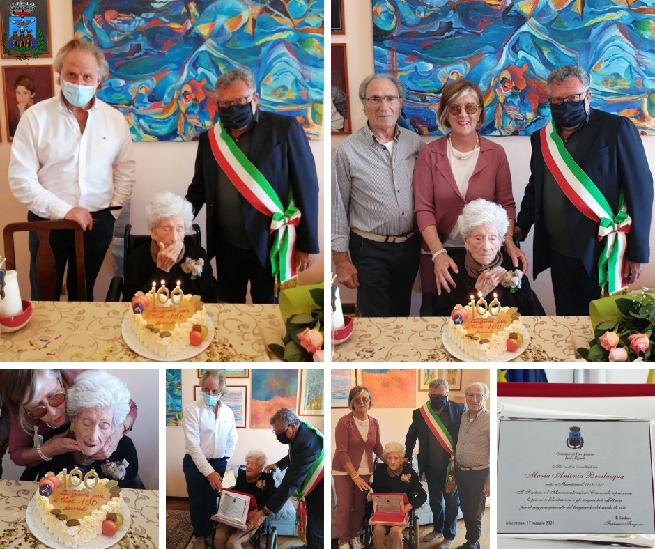 Marettimo, nonna Maria festeggia 100 anni