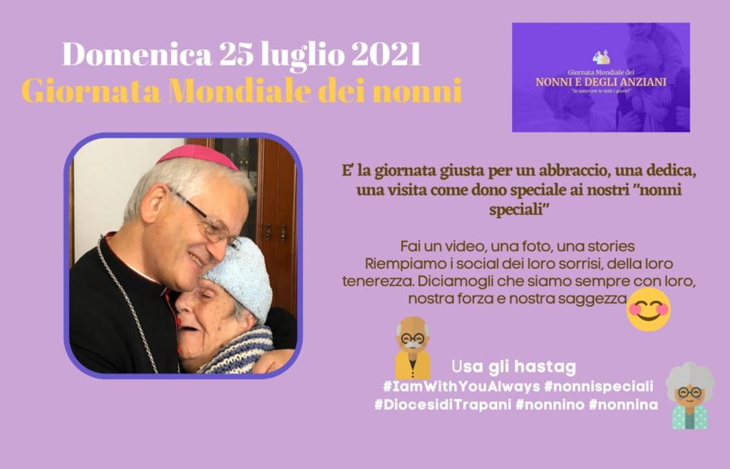 Trapani, la Diocesi partecipa alla campagna social per la Giornata Mondiale dei nonni