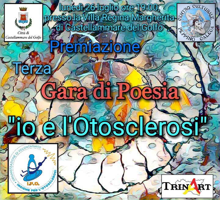 """""""Io e l'otosclerosi"""", premio di poesia a Castellammare del Golfo"""
