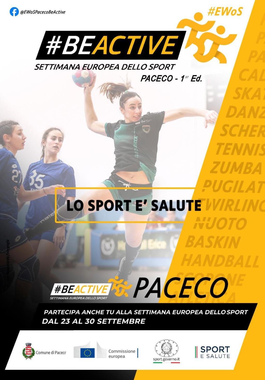 Al via a Paceco la Settimana europea dello Sport