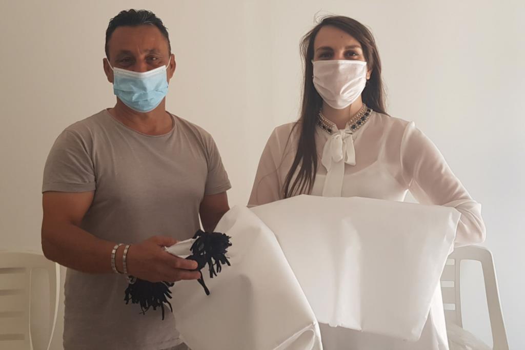 Il comitato di quartiere Sant'Alberto- Fontanelle sud, realizza e distribuisce mascherine a Erice e Trapani