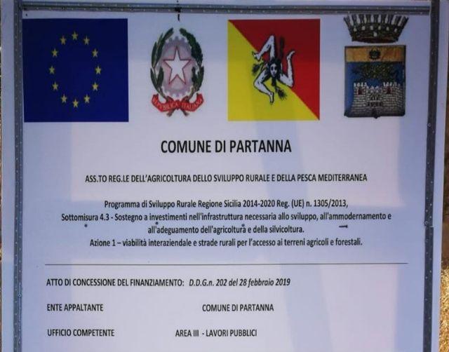 Partanna, al via i lavori sulla strada interpoderale San Martino