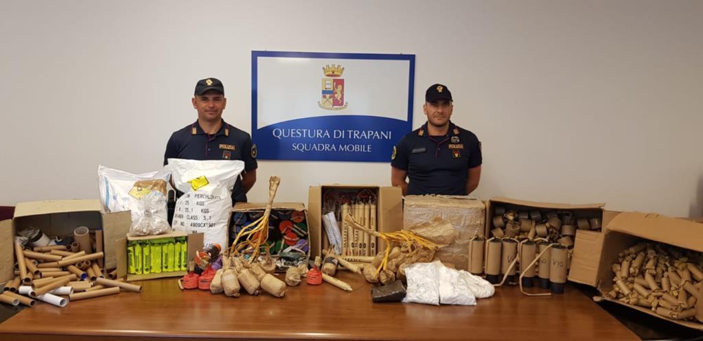 Trapani, un arresto per fabbricazione di esplosivi