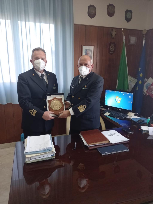 Il contrammiraglio Isidori in visita alla Capitaneria di Porto di Trapani
