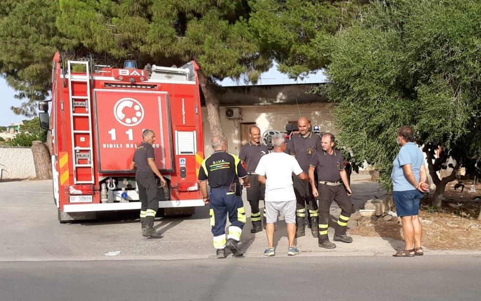 Marsala, la Protezione civile nella lotta contro gli incendi