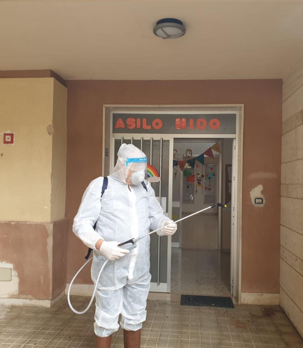 Paceco, sanificati tutti gli edifici scolastici