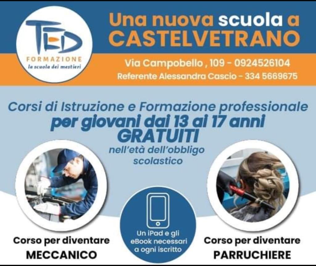 Castelvetrano: ancora aperte le iscrizioni ai corsi professionali gratuiti