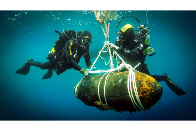Pantelleria: neutralizzato ordigno della seconda guerra mondiale ritrovato in mare