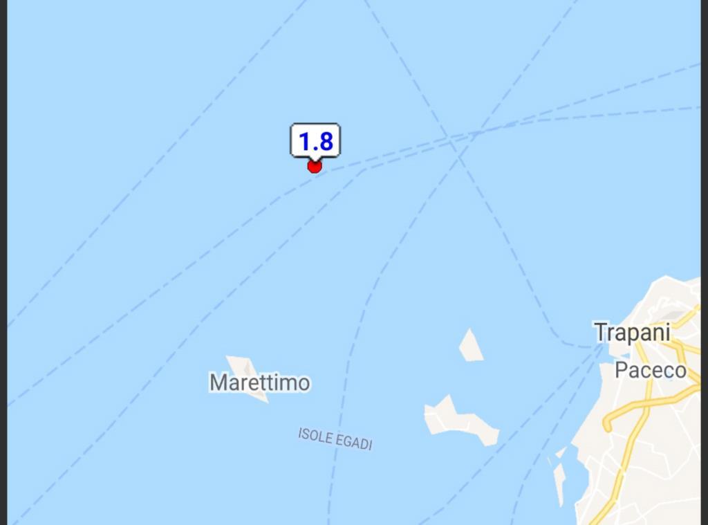 Terremoto al largo di Marettimo: è la terza scossa in due giorni
